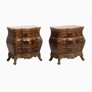 Antique Danish Rococo Chests of Drawers, Set of 2