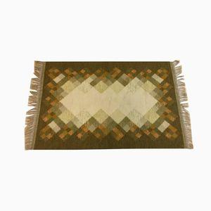 Flachgewebe Mid-Century Teppich von Brita Svefors für Axeco