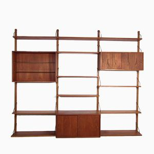 Mid-Century Royal System Teak Wall Unit by Poul Cadovius for Cado