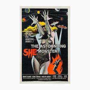The Astounding She Monster Movie Poster by Albert Kallis, 1958