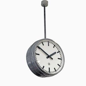 Doppelseitige Mid-Century Fabrik Uhr von TN Telenorma