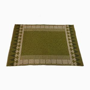 Doppelseitiger Schwedischer Flachgewebe Mid-Century Teppich