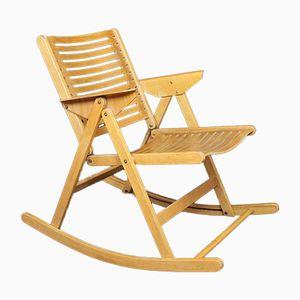 Model Rex Folding Rocking Chair by Niko Kralj, 1960s