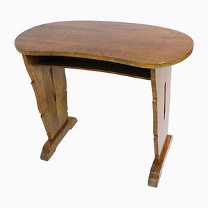 Vintage Kidney-Shaped Walnut Desk