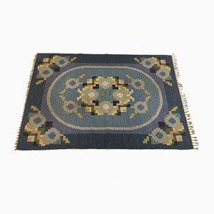 Flachgewebe Vintage Teppich von Ingegerd Silow