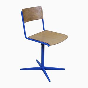 Industrial Swiss Cross-Base School Chair from Embru, 1960s