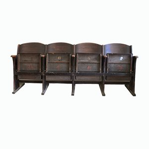 Cinema Seats, 1930s, Set of 4