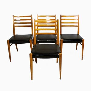 Austrian Chairs from Wiesner-Hager, 1950s, Set of 4