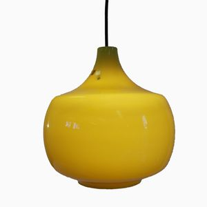 Gelbe Vintage Hängelampe von Paolo Venini für Venini