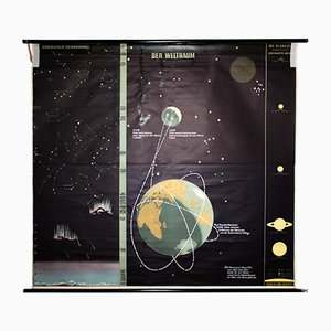 Huge Wall Chart of the Universe by Dr. Jensen, 1959