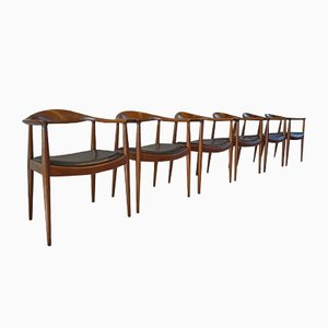 The Chair 503 Armchairs by Hans J. Wegner for Johannes Hansen, Set of 6