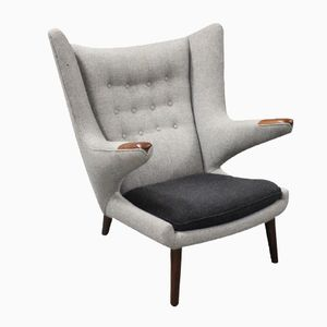 Papa Bear Chair Model AP 19 by Hans J. Wegner for A.P. Furniture, 1960s