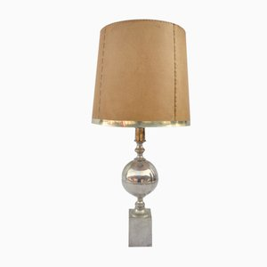 Silvered Brass Table Lamp, 1960s