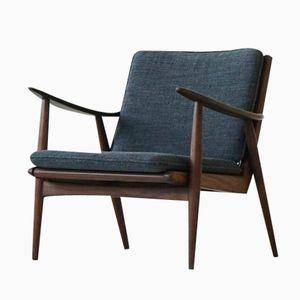 Danish Teak Easy Arm Chair, 1950s
