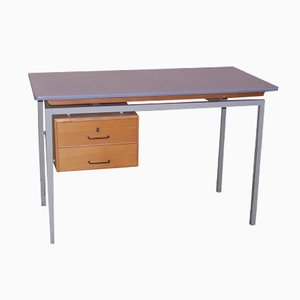 Vintage Desk with Formica Top and Wooden Drawers
