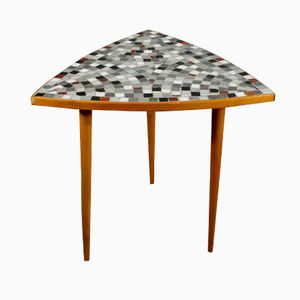 Vintage Side Table with Mosaic Tabletop