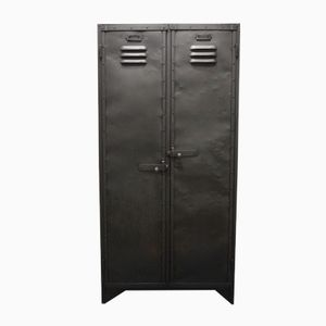 Antique Industrial Riveted Cloakroom Locker