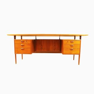 Vintage Teak Desk by Kai Kristiansen, 1960s