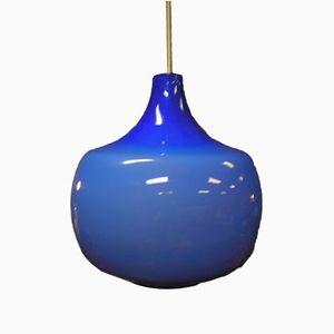 Blaue Hängelampe von Paulo Venini für Venini