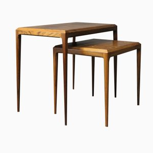 Rosewood Nesting Tables by Johannes Andersen for CFC Silkeborg, 1960s