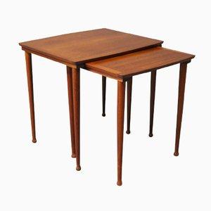 Tables Gigognes en Teck de Møbelintarsia, 1960s
