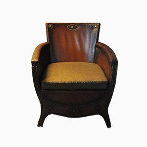 Fauteuil Lounge Vintage en Cuir par Otto Schulz, 1930s