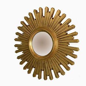 Vintage Golden Sunburst Mirror, 1950s