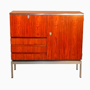Rosewood & Chrome Storage Cabinet, 1970