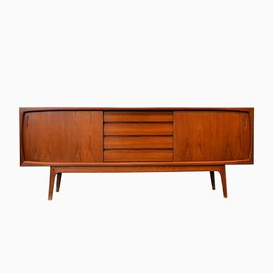 Danish Teak Sideboard with Four Central Drawers, 1960s