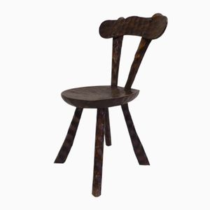 Vintage Swiss Wooden Chair
