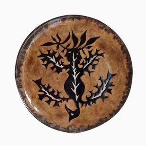 Vintage Ceramic Plate by Jean Lurcat
