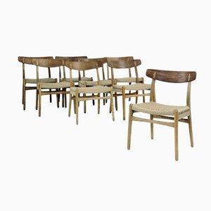 CH23 Esszimmerstühle von Hans J. Wegner für Carl Hansen and Søn, 1960er, 8er Set