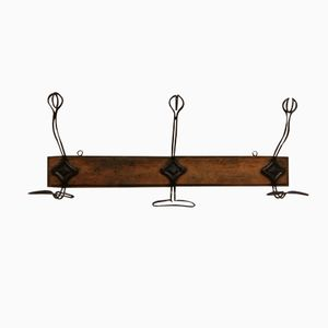 Vintage French Wall-Mounted Coat Rack