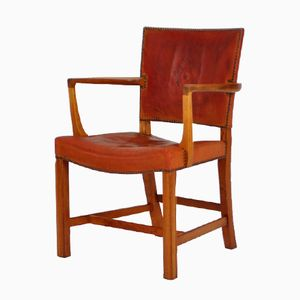 Vintage The Red Chair by Kaare Klint for Rud Rasmussen