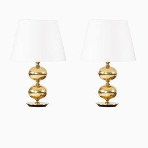 Brass Table Lamps by Henrik Blomqvist for Tranås Stilarmatur, 1960s, Set of 2