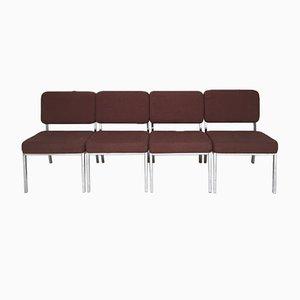 Verchromte Stühle, 1970er, 4er Set