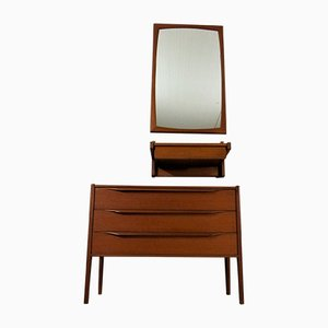 Teak Hall Set by Aksel Kjersgaard for Odder, 1960s