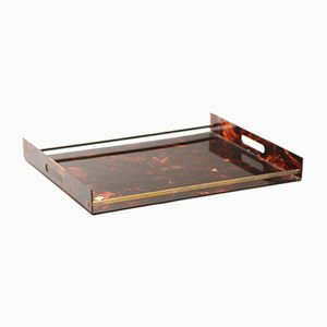 Faux Tortoiseshell Tray from Maison Mercier, 1970s