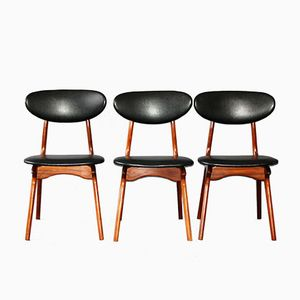 Chairs by Louis Van Teeffelen for WéBé, 1960s, Set of 3
