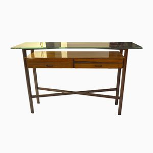 Vintage Italian Console with Mahogany Drawers