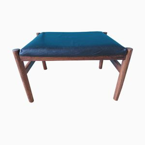 Rosewood and Leather Ottoman, 1960s