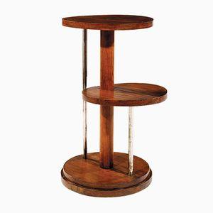 Modernistischer Vintage Eichenholz Beistelltisch von Michel Dufet