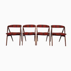 Model 31 Teak Dining Chairs by Kai Kristiansen for Schou Andersen, 1960s, Set of 4