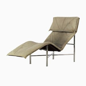 Skye Leather Chaise Lounge Chair by Tord Björklund, 1980s