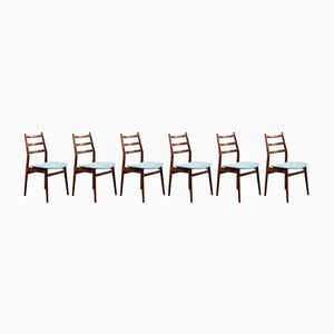 Beech Dining Chairs, 1960s, Set of 6