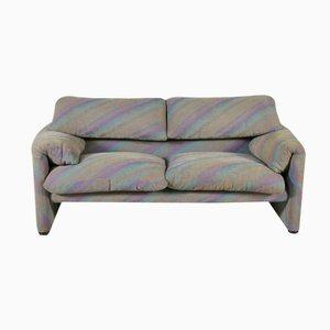 Maralunga Zwei- Sitzer Sofa von Vico Magistretti für Cassina, 1970er