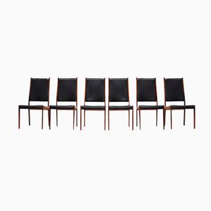 Solid Rosewood Dining Chairs by Johannes Andersen, 1960s, Set of 6