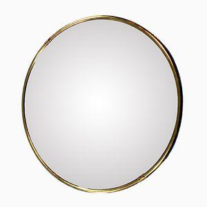 Round Mirror with Brass Frame, 1960s