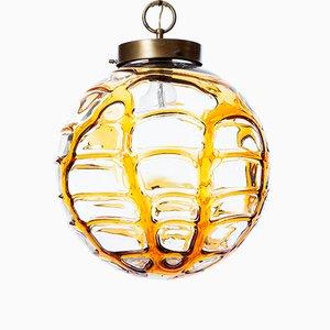 Mid-Century Yellow Murano Glass Pendant