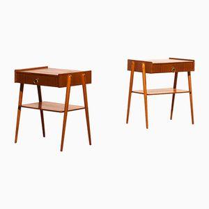 Teak Bedside Tables, 1960s, Set of 2